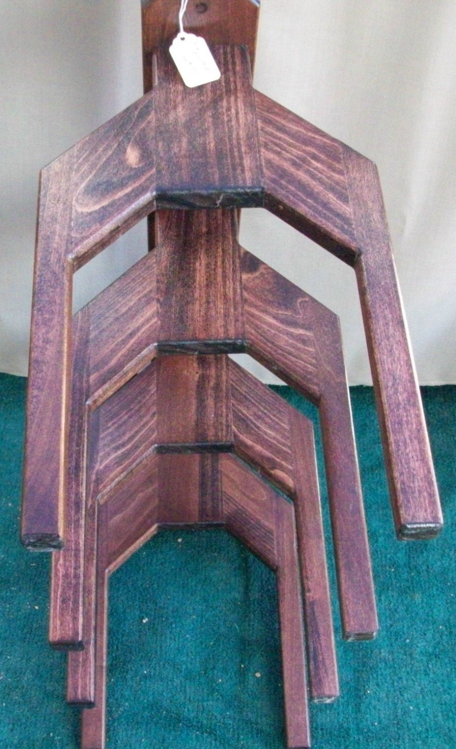 Cowboy Hat Rack Wall Mount 4 Western Hats Alder By