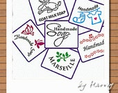 Custom made stamp by your design, free delivery