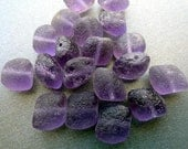 Purple Lava Rock Pillow Beads - Premium Czech Glass Beads