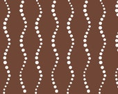 SALE.... Bike Path Brown from Lucky Penny by Alison Glass and Andover Fabrics, 1/2 yard