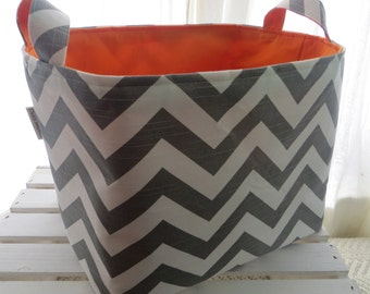 Storage container organizer bin 12 x 10 x 10 Chevron - Choose your colors