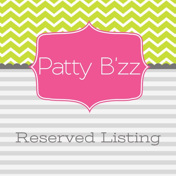 Reserved Listing for Holly Bunin