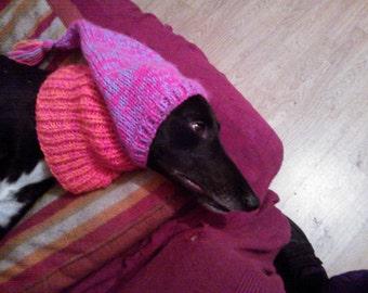 Greyhound Tassel Hat knitting pattern