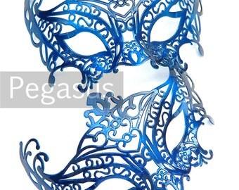 Royal Blue Masquerade Mask base (1 Mask) Ballroom masquerade mask for a Mardi Gras, Halloween, Wedding, New year or Costume Party - M1