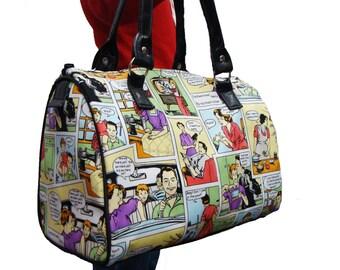 Handbag Doctor bag Satchel Bag Dysfunctional Family Fashion Pattern US handmade Cotton Fabric Bag Purse, new