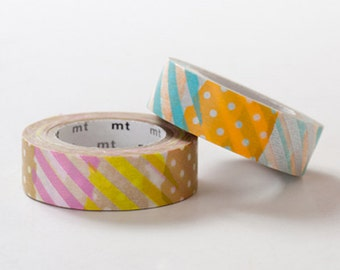 MT 2013 S/S - Japanese Washi Masking Tapes / Patch Patterns H x I for party deco, invitations, holiday packaging, gift wrapping, labeling
