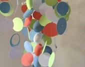 READY TO SHIP - Orange, Green, White and Blue Handmade Baby Mobile  - Medium