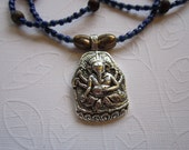 STURDY STEEL GANESH Necklace 38 inches long sale 10 percent off