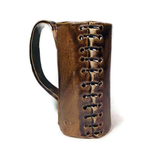 Beer Stein: Leather-look ceramic SCA or LARP