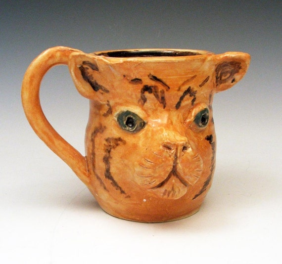 Tabby Cat Tiger Mug - Coffee Cup for Cat Lovers