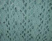 Latticework Crochet Afghan Seafoam Mint Green
