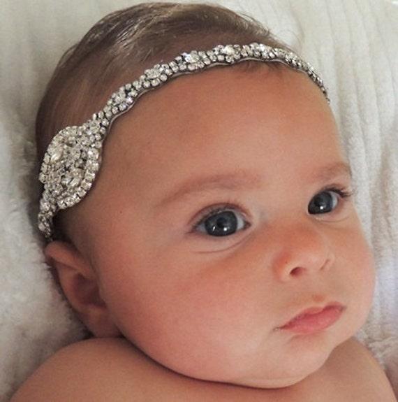 Flower Girl Headpieces: Baby Girl Christening Headpiece Flower Girl Headband Baby