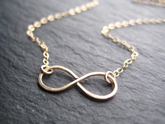 Infinity Necklace, Gold Necklace, Infinity Symbol
