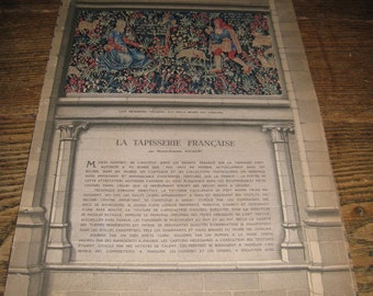 L'ILLUSTRATION - la TAPISSERIE FRANCAISE (The French Tapestry) l'illustration French Magazine Art Article on French Tapestries
