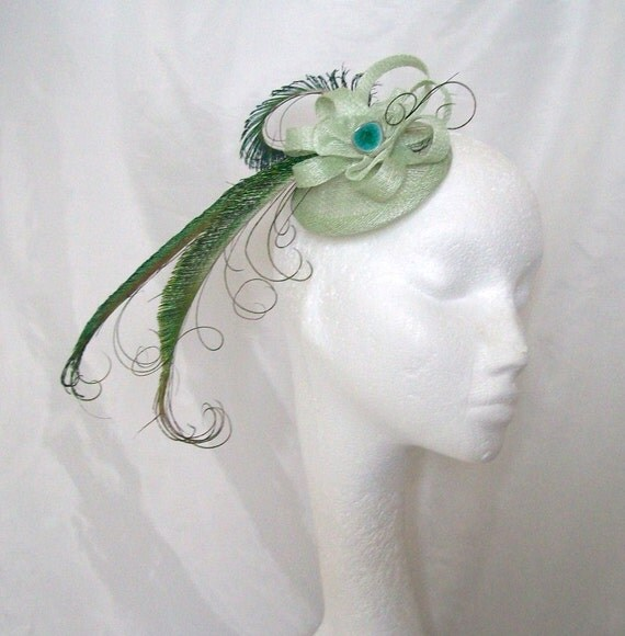 Light Sage Green And Emerald Green Peacock By