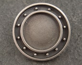 Round Bezel in Sterling Silver-- for Polymer, Resin, or Concrete Jewelry