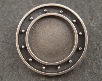 Round Bezel Sterling Silver Bezel for Polymer, Resin, or Concrete Jewelry, Jewelry Supplies