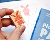 Moulin Rouge Hand Carved Rubber Stamp Special Paris. Handmade rubber stamp. Rubber stamp