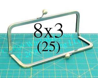 28% OFF 25 Antique Brass 8x3 metal purse frame