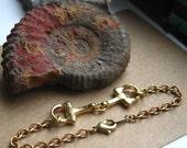 Gold Horse Bit Bracelet...Equestrian Chic