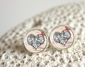 Heart Collage, Silver Earrings SES0002 -  Buy 3 Get 1 Free