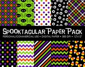Spooktacular  Digital Printable Paper Pack - For Commercial or Personal Use