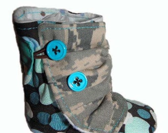 Air Force ABU Baby Boots 0-6 Months *Made to order*