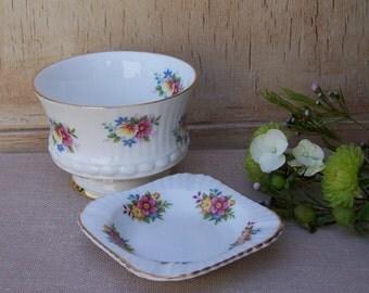 Floral Tea Cup and Mini Saucer - Tea Party,Sugar bowl