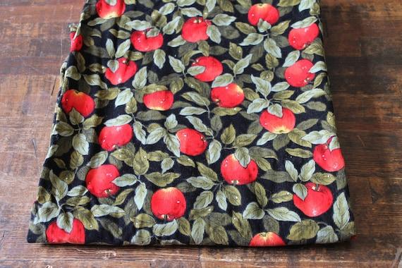 Vintage cotton Corduroy Fabric black narrow wale by ...
