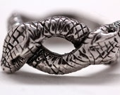 Double snake ring in Sterling Silver made in NYC