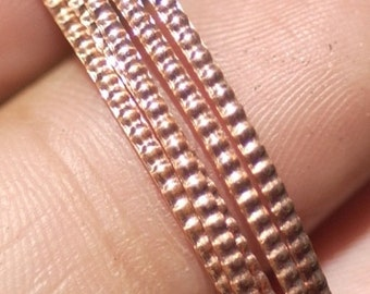 Wire Pattern Stock Shank 1.2mm Textured Metal Wire - Rings Bracelets Pendants Metalwork Variety Metals