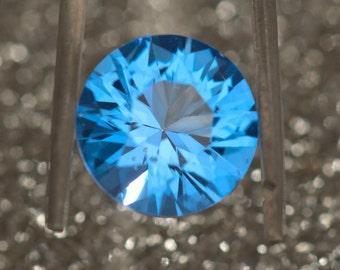 Swiss Blue Topaz 12mm Diamond Cut