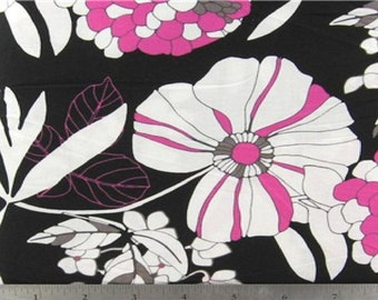 Nocturnal Floral  Fabric  - 1/2 yard