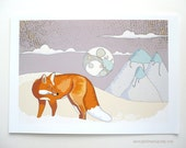 Once I Was - Illustration Print, Dreamy Mountain Fox