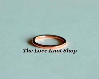 10kt rose gold wedding band, engagement ring, smooth round plain band, also in yellow, up to size 8.5