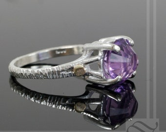 Rose Cut Amethyst Statement ring