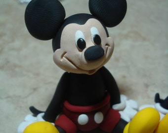 Mickey Mouse Clay Figurine
