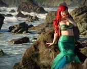 Custom Couture Mermaid Costume Made To Your Measurements Tail and Bra Set
