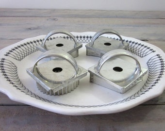 Vintage Cookie Cutters with Handles Set of Four