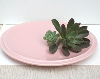 Large Ultra California chop plate by Vernon Kilns. Pink, mid century, modern, minimal, pre WW2.
