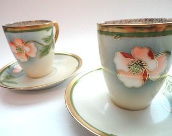Royal Munich Teacup Bavaria Germany Z S & Co. Artist Signed  // Vintage China Teacup Set// Vintage Cup and Saucer