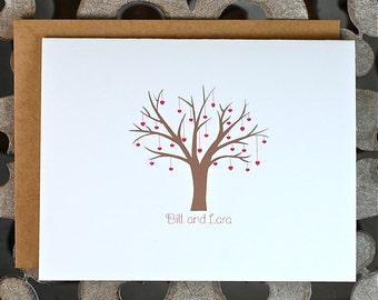 Wedding Thank You Cards, Bridal Shower, Thank You Cards, Hearts, Tree, Thank You Cards, Outdoor Wedding, Affordable Wedding