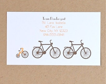 Calling Cards, Bikes, Family Bike Calling Cards, Bike Cards, Family Calling Cards, Business Cards, Contact Info