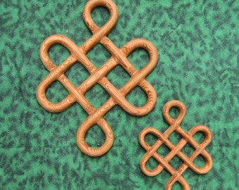 Miniature Celtic Knot of Longevity - Long Life - Traditional Celtic Knot Wood Carving