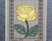 SALE - Rosa - the Rose Printed Cross Stitch Chart - CLEARANCE
