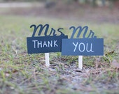 Chalkboard Photo Booth Props Mr and Mrs Signs with Chalkboard Marker Pen Thank You Signs Props Team Bride Team Groom Chalk board Props