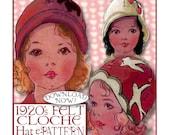 Sweetest Toddlers 1920s FELT Cloche Hat e-pattern - 3 Styles