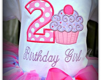 Cupcake Birthday tutu Outfit
