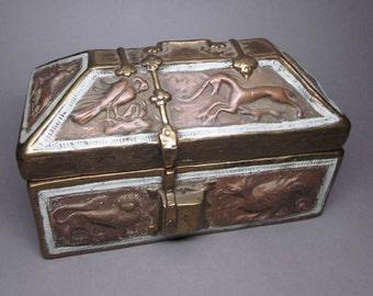 Bronze Clad Medieval Style Casket / Box