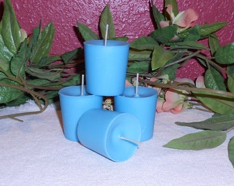 Ten, Unscented Votive Wedding Candles, Any Color, You Choose, Soy
